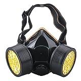 Ewolee Máscara Antigas, Gas Mask Respirador de Cartucho Doble Química Industrial Máscara Reutilizable, Respiradores de Seguridad contra Polvo Niebla T