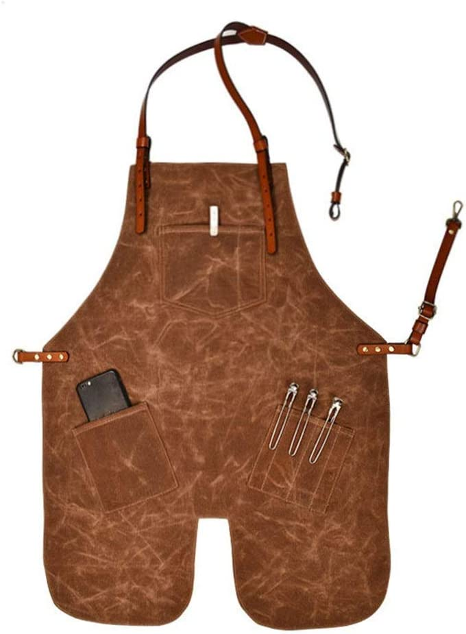 Austin Mall NeoMcc Canvas Work Aprons with All items free shipping Shoulder Tool Leather Pockets Str