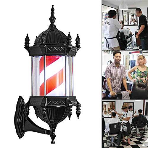 N / A Rachael Hair Salon Barbiers LED Pôle Gyrophare Signe Lumière Outdoor Wall Light Box imperméable et d'économie d'énergie 110 / 220V,B
