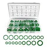Boatsea 270pcs Rubber O Ring Kits 18 Sizes Sealing Gasket Washer Made of Nitrile Rubber, Automotive AC O-Rings Kit, O-Ring Assortment Set for Car Repair, Plumbing, Air or Gas Connections, Green