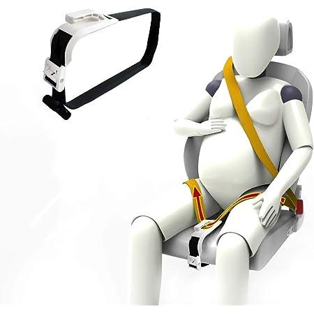 ZUWIT Ajustador De Cinturón De Seguridad para Mujeres Embarazadas, Comodidad para El Vientre De Las Madres Embarazadas, Un Cinturón De Protección Imprescindible para Las Madres Embarazadas (Blanco)