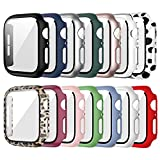 14 Pack Case for Apple Watch 40mm Series 6/5/4/SE with Tempered Glass Screen Protector, Haojavo Hard Ultra-Thin Scratch Resistant Bumper Protective Cover for iWatch Accessories