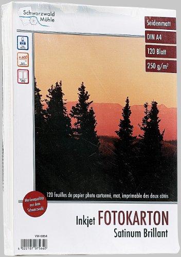 Schwarzwald Mühle Fotopapier: 120 Blatt Foto-Karton, matt, beidseitig, A4 (Fotopapier Tintenstrahldrucker)