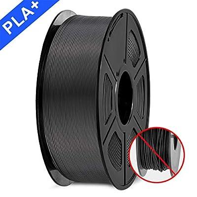 PLA Filament 1.75mm, SUNLU PLA plus Filament for 3D Printer, Dimensional Accuracy +/- 0.02 mm, PLA+ Blue + Silver + Red 1KG