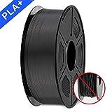 3D Printer Filament, PLA plus Filament 1.75mm, 3D Printer Filament PLA+, 1KG Black