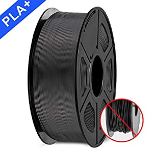 immagine di SUNLU Filamento della stampante PLA plus Filament 1.75mm, 3D Printer Filament PLA+, 1KG Black