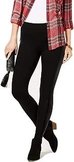 Style & Co. Velour-Stripe Pull-on Leggings Pants Petite Black Size PMedium