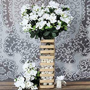 DN_HOM Wonderful 120 pcs Silk Gardenia Flowers for Wedding Centerpieces Arrangements Bouquets (White)