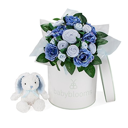 Luxury Rose Bouquet with Little Blue Bunny