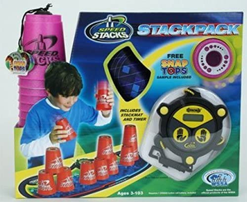 Speedstack Pink Courier shipping free Plastic Metallic Max 55% OFF Competition Stackpack Stacking