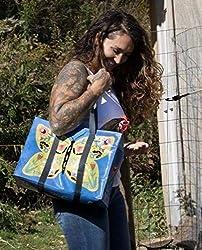 Blue Q Shoulder Tote Here Kitty 15x11 Shopping Bag QA650