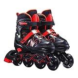 Patines en línea, patines en línea ajustables unisex, patines de fitness unisex Patines de ruedas para niños, niñas, principiantes, patinaje de patio trasero interior al aire libre, talla 26 - 42