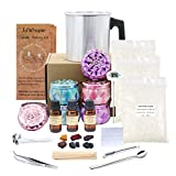 illusionark Complete Candle Making Kit Supplies, DIY Candle Set Create Large 6 x Scented Soy Candles, Soy Wax,...