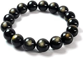 Blandinelove Beads Bracelet, Natural Tibetan Buddha Handmade Stretch Beaded Gemstone Bracelets for Men Women Girls, Yoga H...