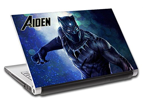 Black Panther Super Hero Personalized LAPTOP Skin Decal Vinyl Sticker NAME L744, 15.6'