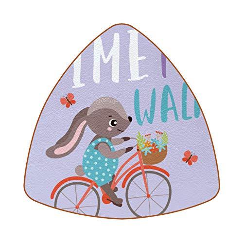 Funny Rabbit Ride A Bicycle Juego de 6 Posavasos para Bebidas para el hogar, Taza, Botella, Taza, café, Cerveza