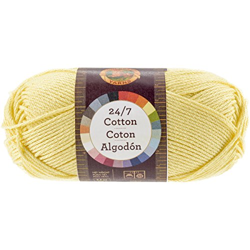Lion Brand Yarn 761-157 24-7 Cotton Yarn, Lemon