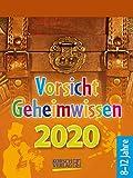 Vorsicht Geheimwissen 2020: Tages-Abreisskalender für Kinder voller Wissen, Ideen und Spiele I Aufstellbar I 12 x 16 cm - Korsch Verlag