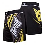 TapouT 4 Way Stretch Performance Fight Shorts (Yellow)-30