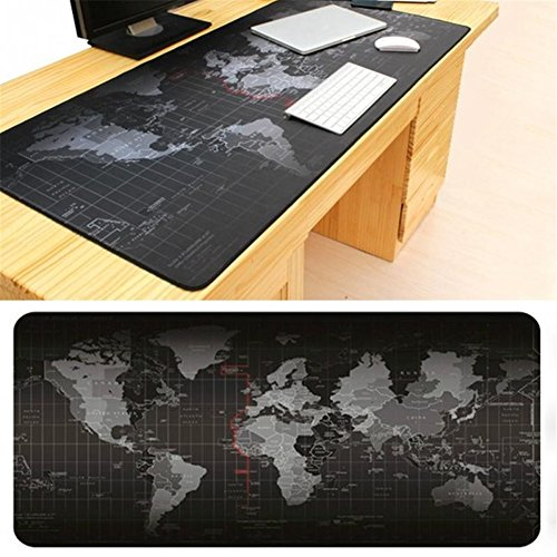 GS Large Size Mouse Pad 900x400x2mm World Map Speed Game Keyboard Mouse Pad Mat Non-slip Laptop...