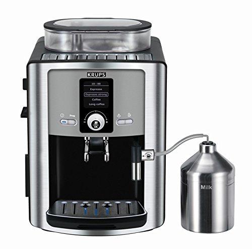 Krups EA8050 - Cafetera (Independiente, Totalmente automática, Espresso machine, Granos de café, De café molido, Negro,...