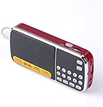 Mfine Portable Mini USB FM Radio Speaker Music Player Micro SD/TF Card For PC iPod Phone (088 Red)