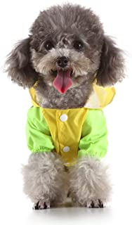 Danm Dog Raincoat Waterproof Clothing Cover Rain Jacket Cloak with Safety Reflective Stripes for Small Medium Size Large Pet Jacket XS-XL
