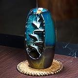Lisaion - Bruciatore di incenso, in Ceramica, per aromaterapia, Profumo, per casa, Ufficio, incenso, Artigianato, con 10 Coni