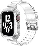 IWINTP Compatible for Apple Watch Band 38mm 40mm,Transparent Clear Watch Band Soft Silicone Sport Bands for iWatch Series 6/5/4/3/SE