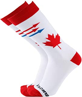 NEVSNEV Men Women Colorful Patterned Fashion Crew Socks Pizza Moving to Canada