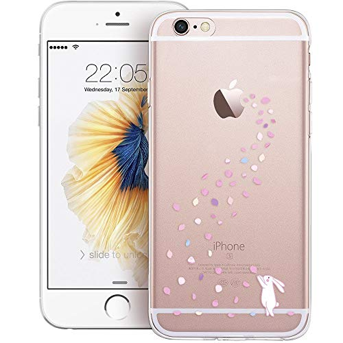 ESR Custodia per iPhone 6s,Cover per iPhone 6 in Silicone Case, Clear Soft TPU Pattern Case Cover 4.7 Inches iPhone 6/6s (Floral Bunny)
