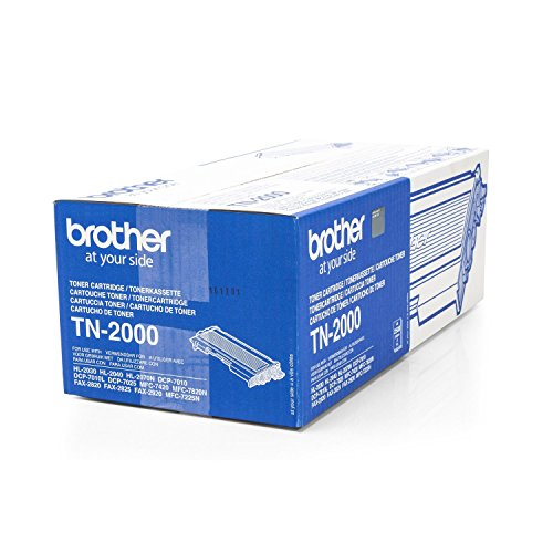 Original Brother TN-2000 /, für Fax 2920 Series Premium Drucker-Kartusche, Schwarz, 2500 Seiten
