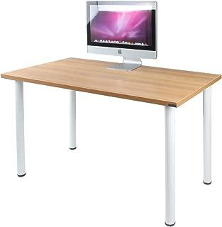 Need 47 inches Modern Computer Desk Home Office Desk Teens Desk Multi Purpose Table,Teak White AC1BW-120