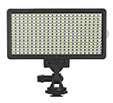 【Bi-Color and Dimmable】Compact with 308pcs LED light that are Bi-color with color temperature 3200k-5600k and wide dimmable range 1%-100%, supply you with different shooting result.adjustment easily operate with the setting button. 【Lightly and Porta...