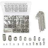 HanTof 747Pcs M2/M2.5/M3/M4/M5/M6/M8 304 Stainless Steel Hex Allen Head Socket Set Screws ...