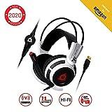 KLIM Puma - Micro Casque Gamer - Son 7.1 - Audio Très Haute Qualité - Vibrations Intégrées - Confortable - Parfait pour Gaming PC et PS4 - Nouvelle Version 2019 - Blanc