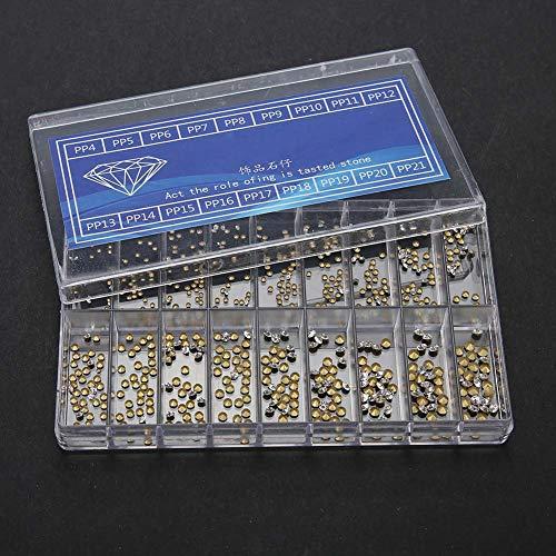 Qiterr relógio decoração strass, 18 tamanhos relógio peças de substituição strass relógio ferramenta de reparo acessórios