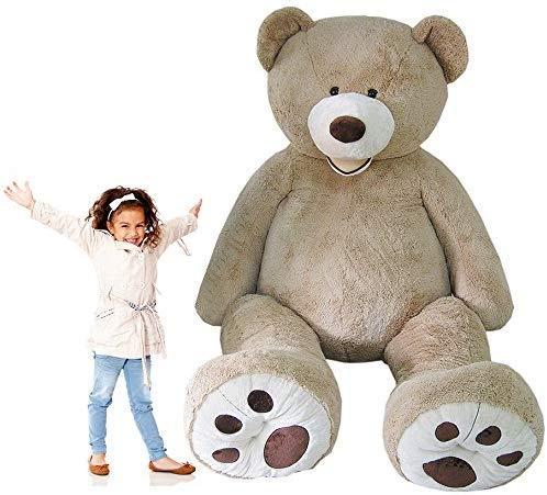 Nspire 8ft Oversize Valentines Day Giant Teddy Bear Jumbo Plush Gigantic Stuffed Animal (8ft, Light...