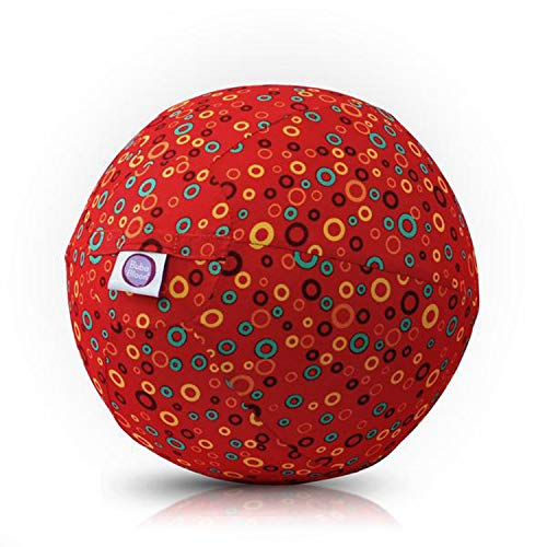 Abanico BB-17703 - BubaBloon Ballonhülle Bubbles, kinderfreundliche, textile Ballonhülle aus hochwertiger Popeline Baumwolle, inklusive 3 Latex Luftballons, rot