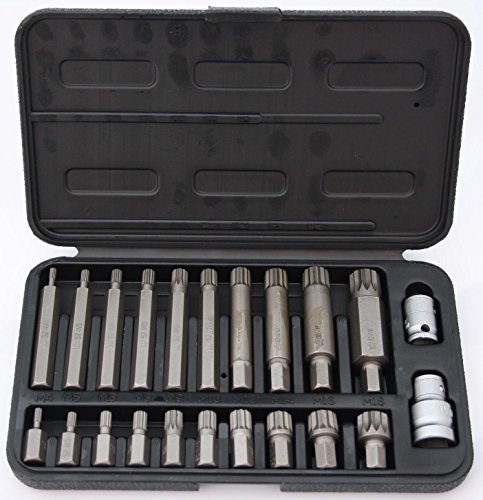 22 tlg. Bitset Bitsatz Bit Set Satz Spline XZN M4 | M5 | M6 | M8 | M9 | M10 | M12 | M14 | M16 | M18 12 Kant Vielzahn 1/2 3/8 Zoll Adapter