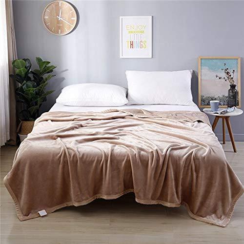 RONGXIE Fleece deken van koraal, polyester, donkergrijs, eenkleurig, nerts, gooien, sofa-afdekking, plaid sheet 150x200cm 6
