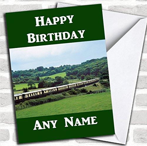 Orient Express Trein Aangepaste Verjaardag Groeten Kaart- Verjaardagskaarten/Vliegtuigen, Treinen & Automobiles Kaarten