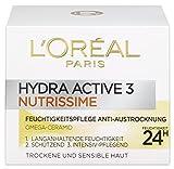 L'Oreal Paris Hydra Active 3 Nutrissime Gesichtscreme, mit Omega-Ceramid für sehr trockene Haut, intensive Pflege, 50 ml