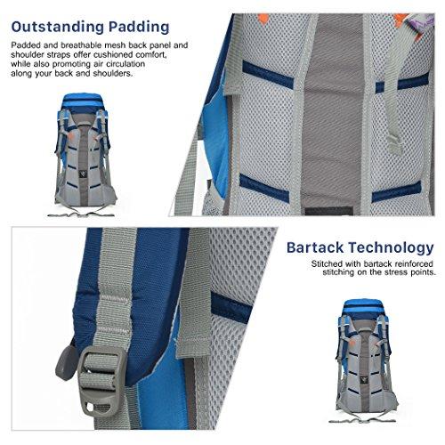 Mardingtop Zaino Impermeabile da Trekking Multifunzione 55 litro