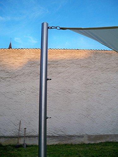 Sonnensegelmast Sonnensegel Sonnensegelpfosten Edelstahl 3m 60,3 x 3mm 6030/3-3