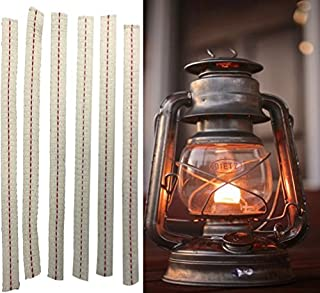 Light of Mine 100 Percent 3/4 inch Cotton Wick Strip Pre Cut Red Stripe Replacement Wick for Oil Lamps and Lanterns (6)