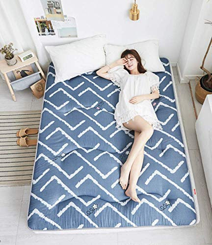 Double Folding Futon Mattress Antibacterial Tatami Floor Japanese Mattress Soft Breathable Lazy Bed Mattress For Student Dorm Family Room Thickness 5cm, G-180 * 200cm