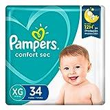 Fralda Pampers Confort Sec Xg 34 Unidades, Pampers