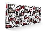 SUENOSZZZ-ESPECIALISTAS DEL DESCANSO Cabecero tapizado para Camas de 90 (100 x 57 cm) en Tela Motivo Estampado Comics