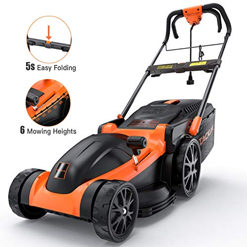 Electric Lawn Mower, TACKLIFE 16-Inch Corded Lawn Mower, 11-Amp Corded...